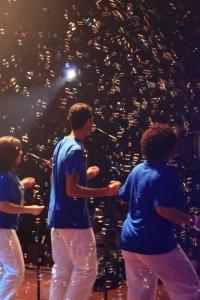 Glenna, Bernard and Graziana singing at the concert