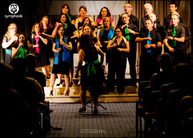Symphonik choir performing at their last concert, Seasons of Love, in June 2012. Photo by Siemenjov Galdes.