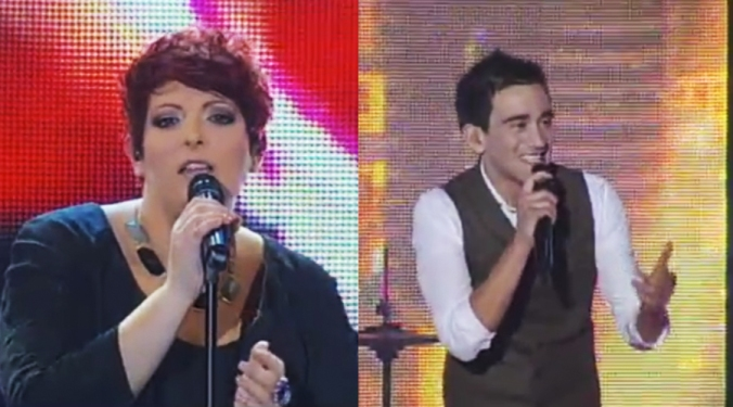 Janice Debattista and Gianluca Bezzina at the Malta Eurovision Song Contest Semi-finals.